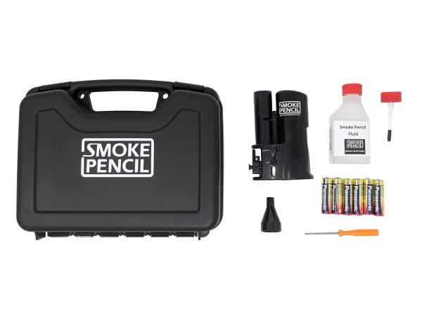 smoke pencil field case with contents next to it