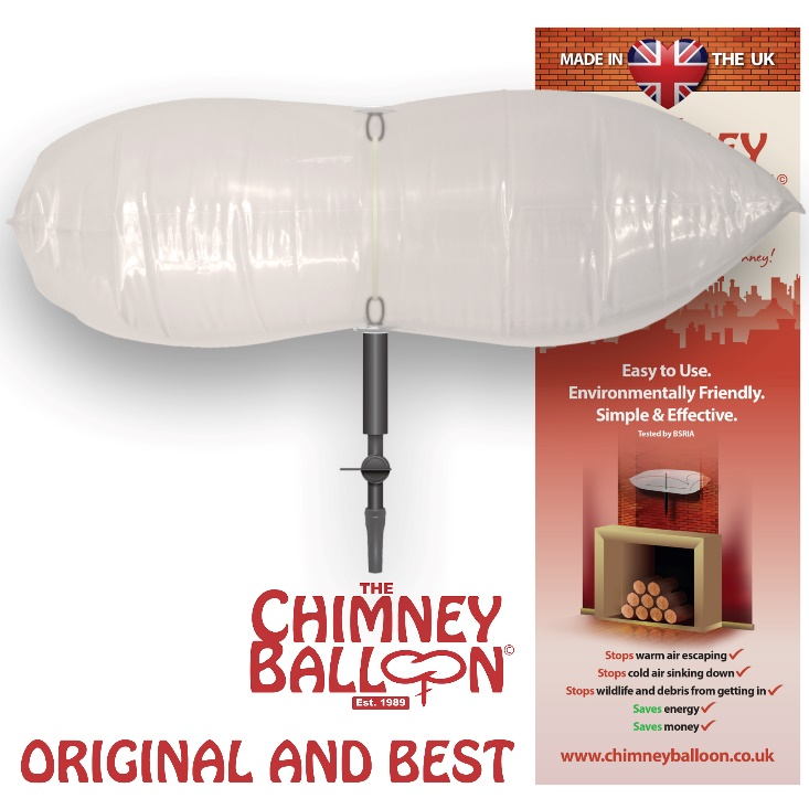 Chimney Balloon - the original and best inflatable chimney draught excluder