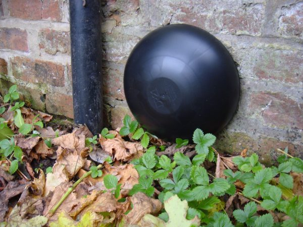 DR21 vent cover on an external brick wall